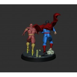 SUPERMAN AND FLASH RUNNING - STL Files for 3D Print