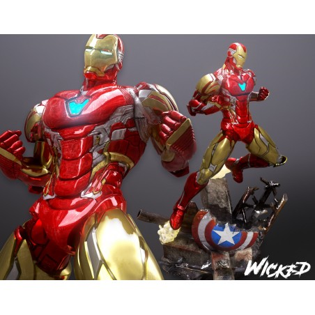 Iron Man and the shield - STL Files for 3D Print