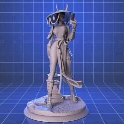 Samurai Woman - STL Files for 3D Print