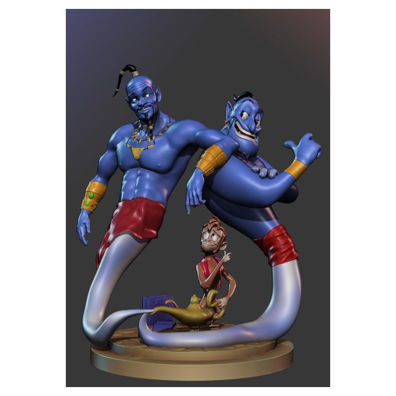 Genius Aladdin Diorama - STL Files for 3D Print