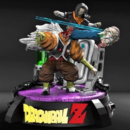 Dr Gero Vs Numero 17 - Dragon Ball - STL Files for 3D Print