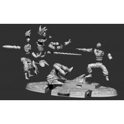 GOKU & PICCOLO VS RADITZ - DRAGON BALL Z - STL Files for 3D Print