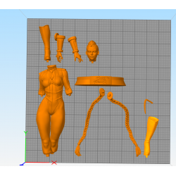 Cammy Street Fighter - STL Files for 3D Print