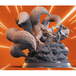 Naruto and Kurama diorama - STL Files for 3D Print