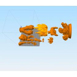 GOKU ULTRA INSTINCT DRAGON BALL SUPER - STL 3D print files