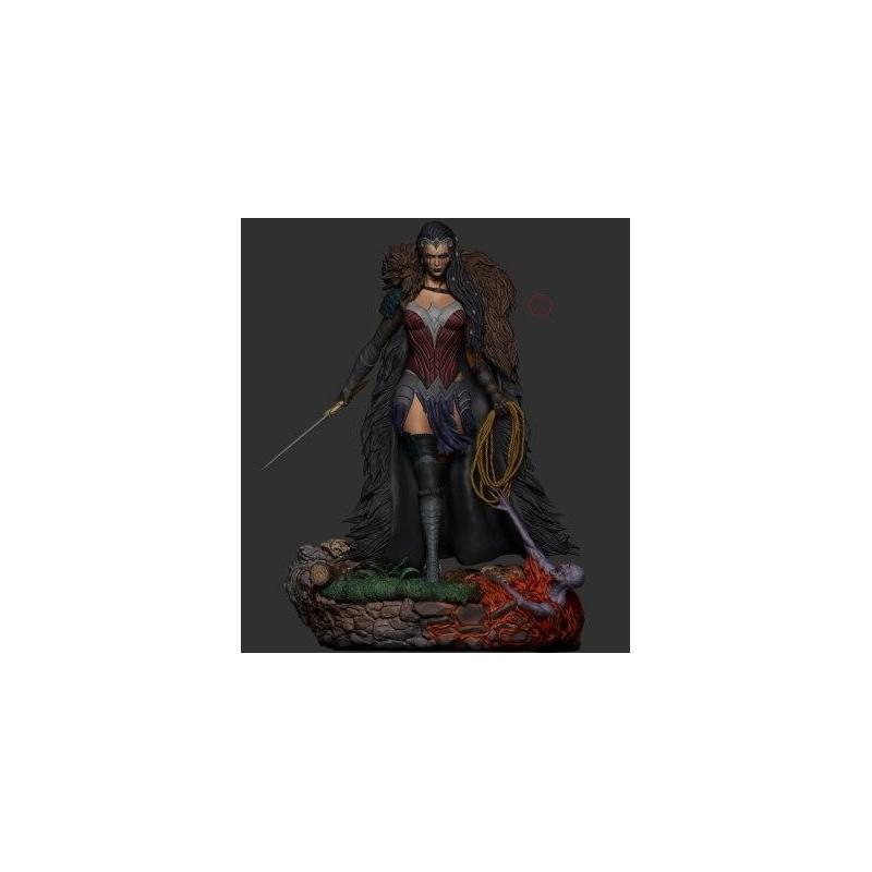 Wonder Woman Evil - STL Files for 3D Print