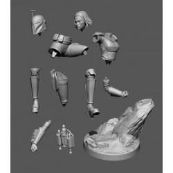 Mandalorian Set Bo Katan and Ahsoka Tano - STL Files for 3D Print