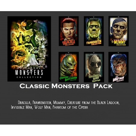 Classic Monsters  Pack - STL Files for 3D Print