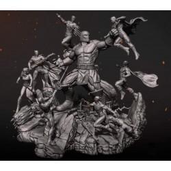 Justice League vs Darkseid - STL - 3d Print Files
