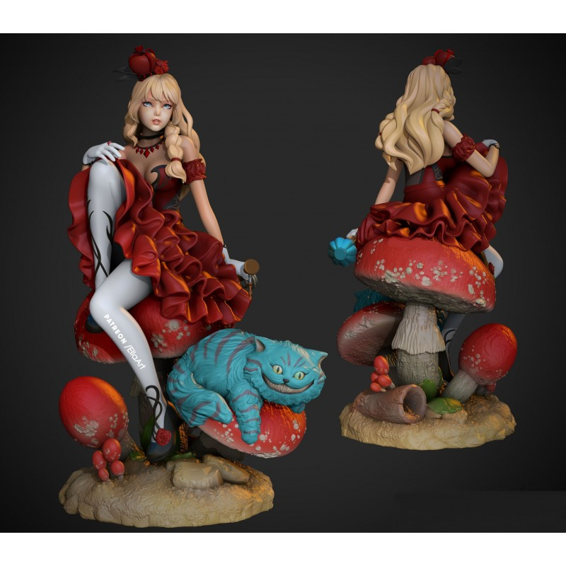Alice in Wonderland V2- STL Files for 3D Print