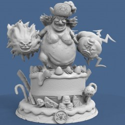 Charlotte Lin Lin BigMom One Piece - STL Files for 3D Print