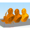 Native american bust - STL 3D print files