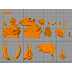 GOHAN SSJ 2 - STL 3D print files