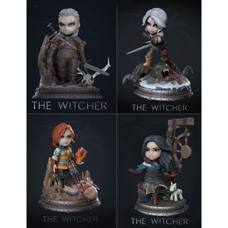 The Witcher Chibi Pack - STL 3D print files