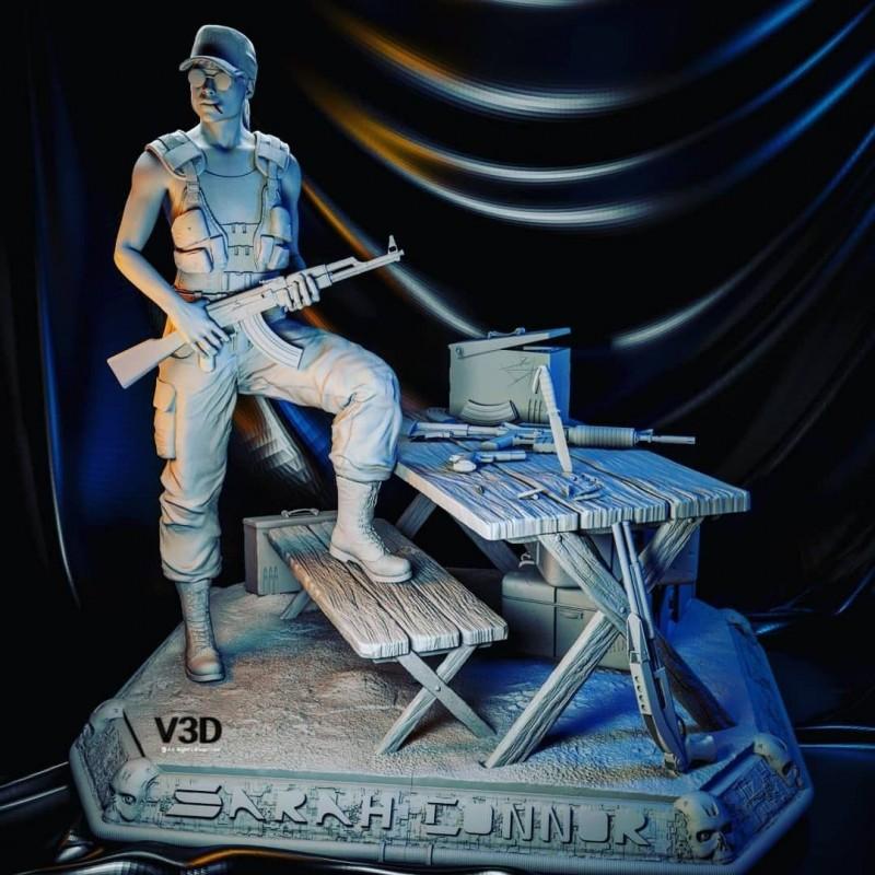 Sarah Connor Terminator + NFSW Version - STL 3D print files
