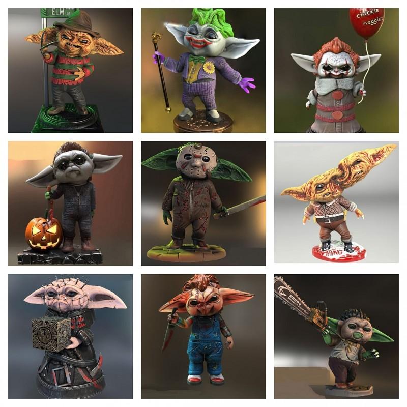 Pack Baby Yoda Terror - STL Files for 3D Print