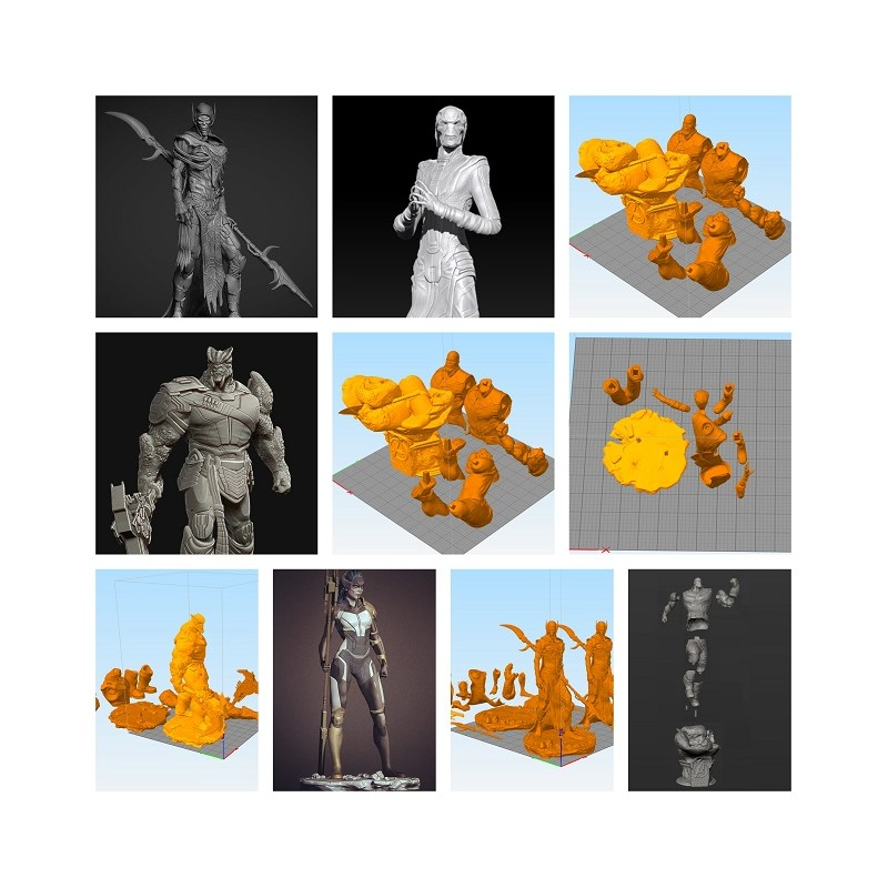 Thanos and Black Order Pack - STL 3D print files