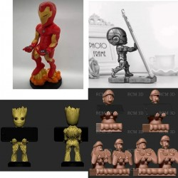 Joystick & Cell Phone Support Pack - STL Files for 3D Print
