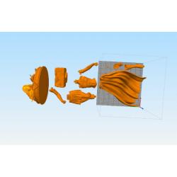 SuperGirl Statue - STL Files for 3D Print