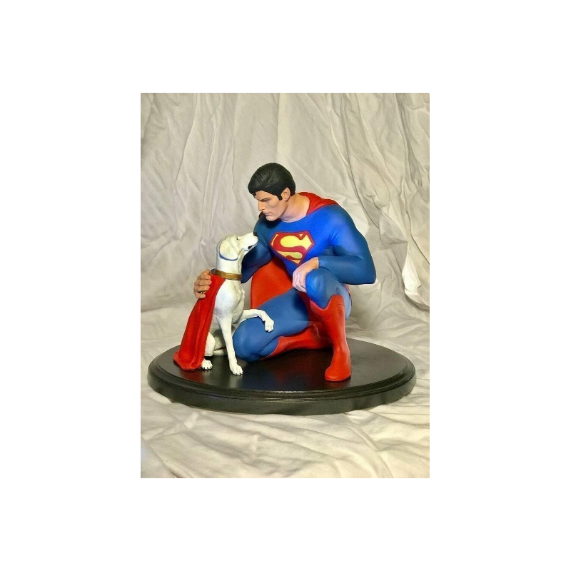 Superman and Dog Krypton STL - 3d Print Files