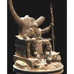 Kratos on throne - STL 3D print files