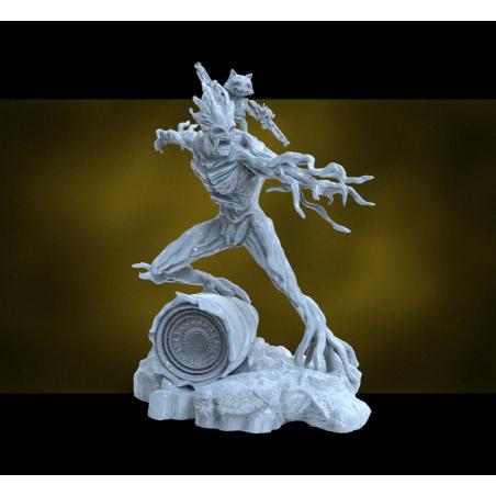 Rocket and Groot - STL 3D print files