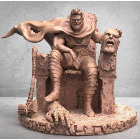 Thor in the throne - STL Files for 3D Print