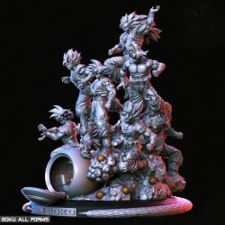 Goku All form - STL Files for 3D Print