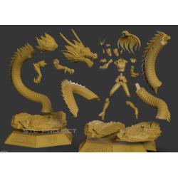 Shiryu Dragon Saint Seiya - STL Files for 3D Print