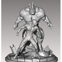 Spiderman vs Rhino - STL Files for 3D Print