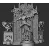 Batman on Throne Diorama - STL Files for 3D Print