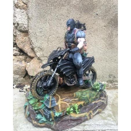 Batman on motorbike - STL 3D print files