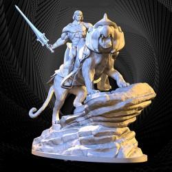 He-man and Battle Cat - STL 3D print files
