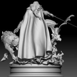 Alucard Castlevania- STL Files for 3D Print