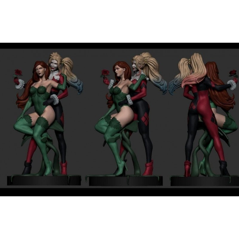 Poison and Harley Diorama - STL 3D print files