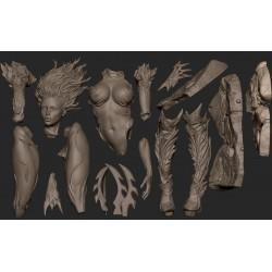 WitchBlade - STL 3D print files