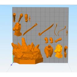 Lady Thanos - STL 3D print files