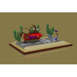 RoadRunner and Wile E Coyote - STL 3D print files
