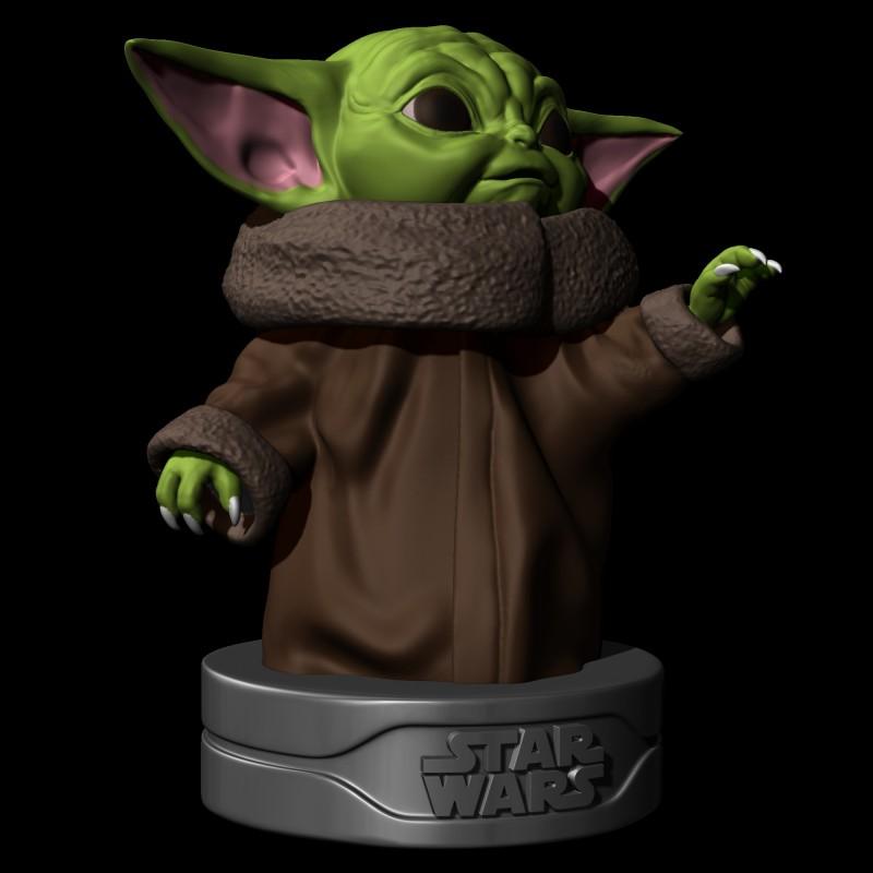 Baby Yoda Grogu V2 - STL 3D print files