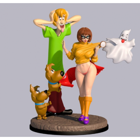 Sexy Velma and Scrapy + NFSW Version - STL Files for 3D Print