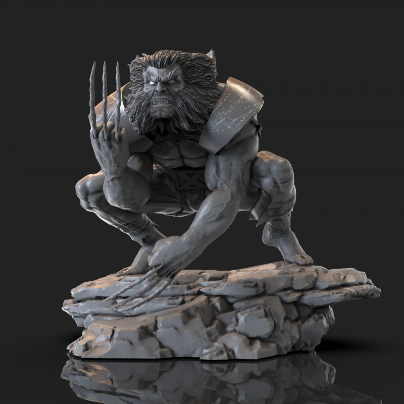 Wild Wolverine - STL Files for 3D Print