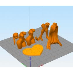 Anna Winter Princess + NFSW - STL 3D print files