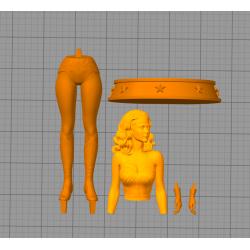 Wonder Woman 80 - STL 3D print files