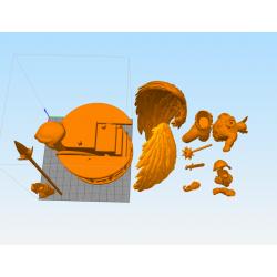 Hawkman Diorama Statue - STL Files for 3D Print