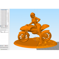 Elastigirl on Elasticycle The Incredibles - STL Files for 3D Print
