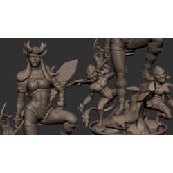 Illyana Rasputin - Magik X-men - STL Files for 3D Print