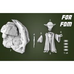 Yoda Star Wars - STL 3D print files