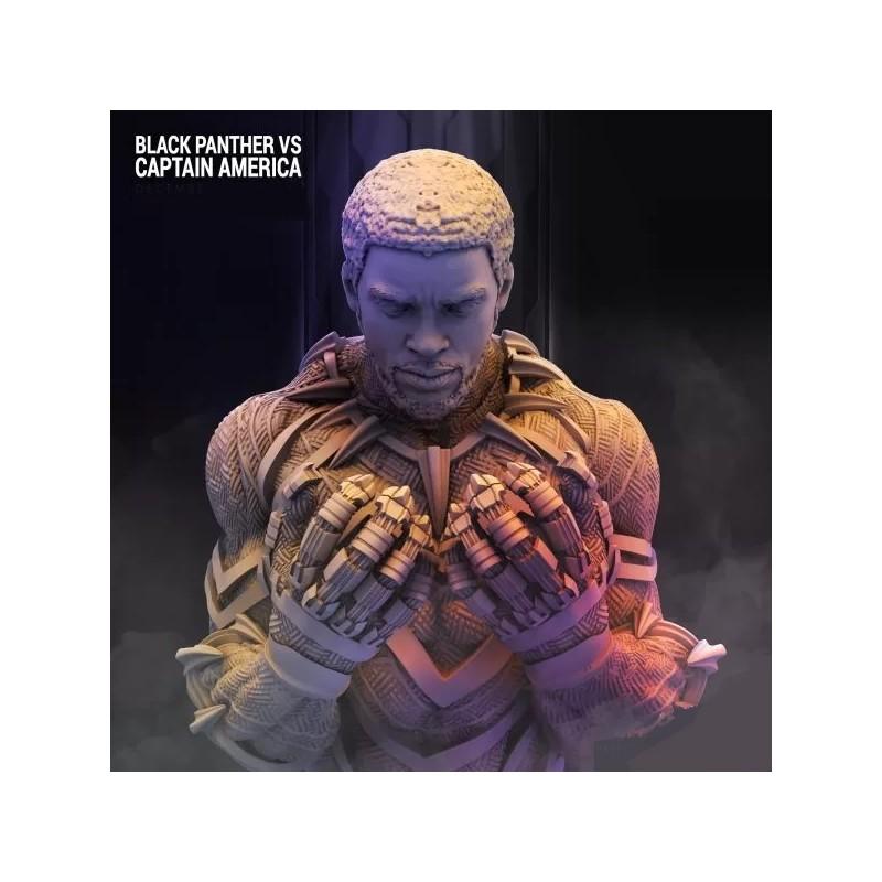 Black Panther T'challa Bust - STL 3D print files