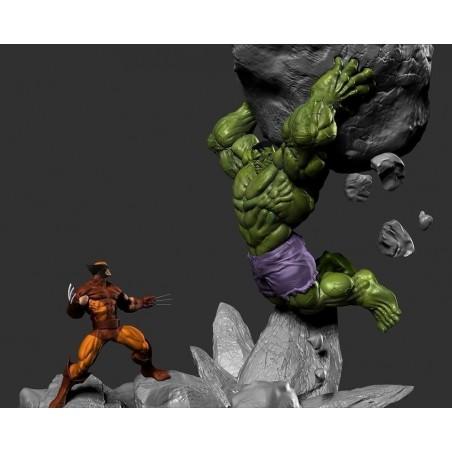 Hulk vs Wolverine - STL 3D print files