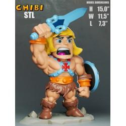 He-Man Chibi - STL 3D print files